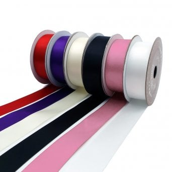 22mm Double Faced Satin Ribbon - 5 Metres - Choose Your Colour