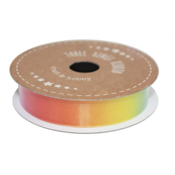 The Cake Decorating Co. 25mm Rainbow Organza Ribbon - 3 Metres