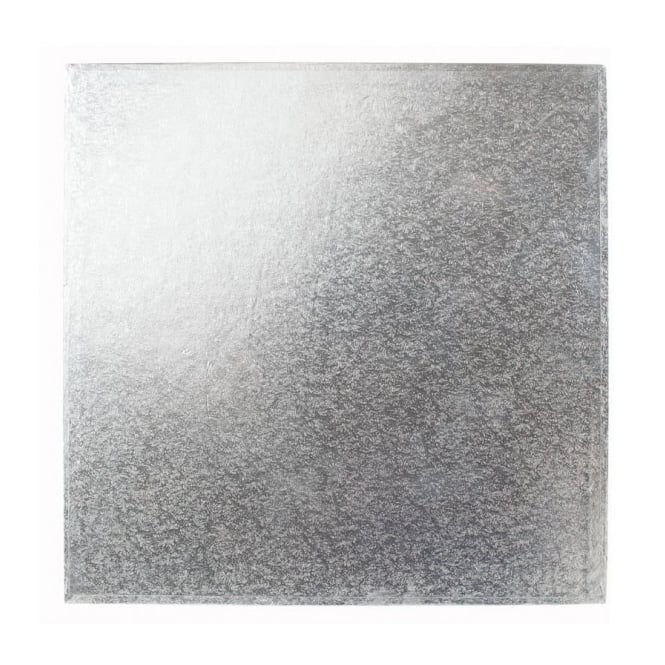 The Cake Decorating Co. 4 Inch Silver Square 4mm Cake Board