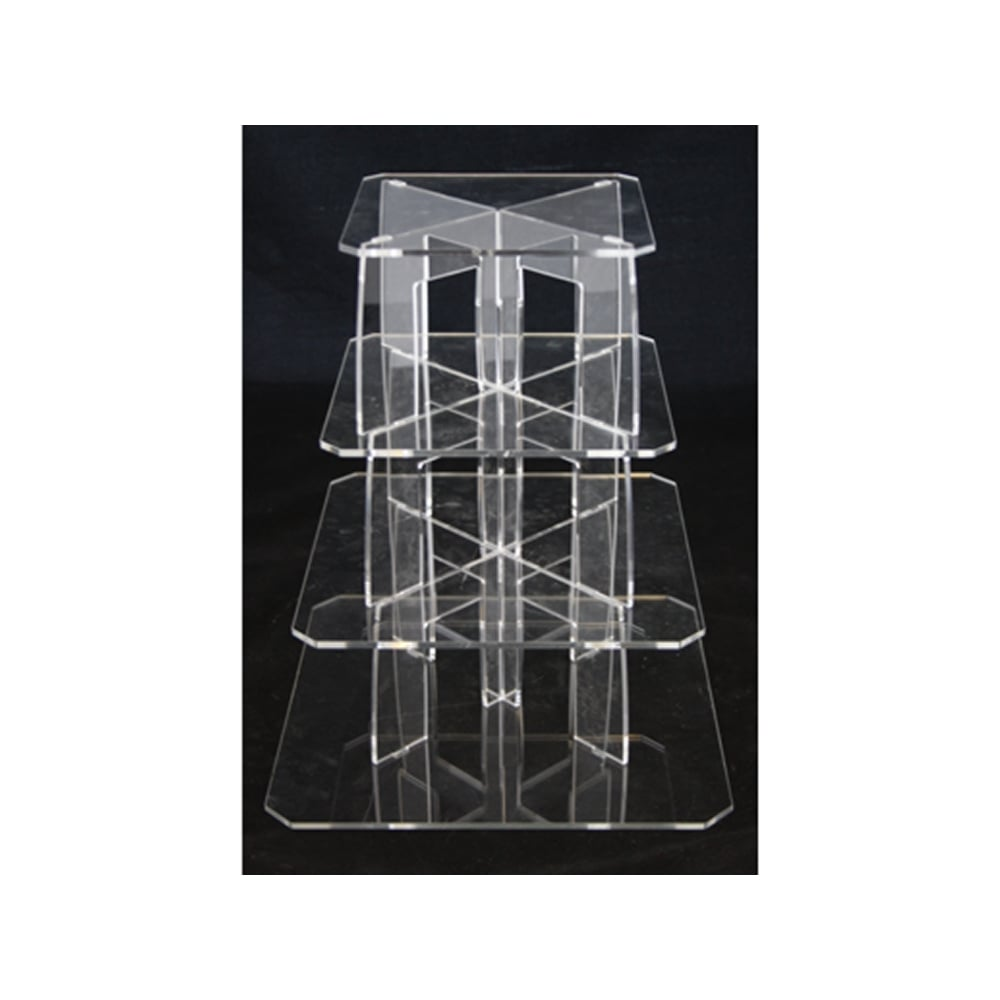how to make a 4 tier square wedding cake the cake decorating co 4 tier square perspex cupcake 15788