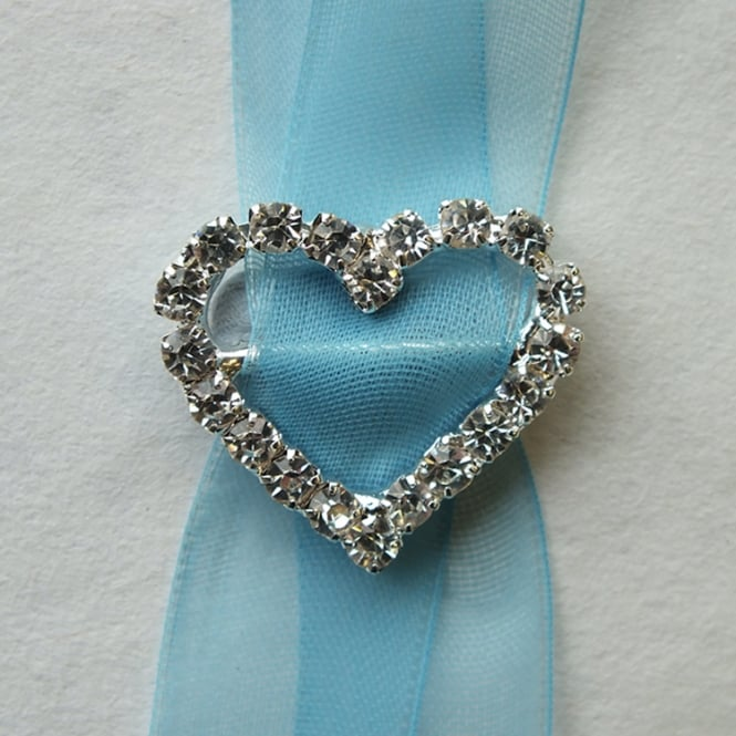 The Cake Decorating Co. 4x Medium Heart Crystal Diamante Buckle Decorations