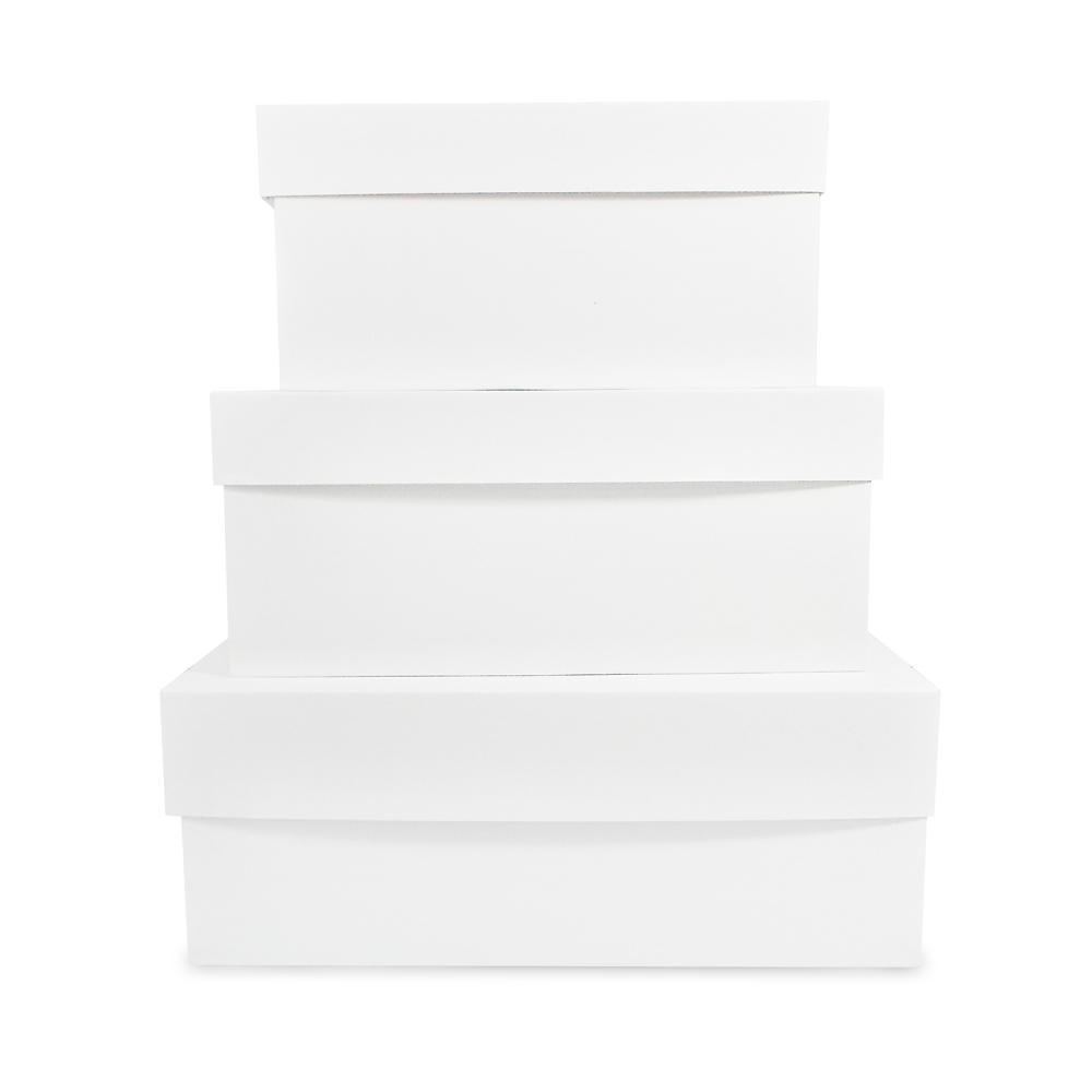 "6"" Deep Standard White Corrugated Cake Box"