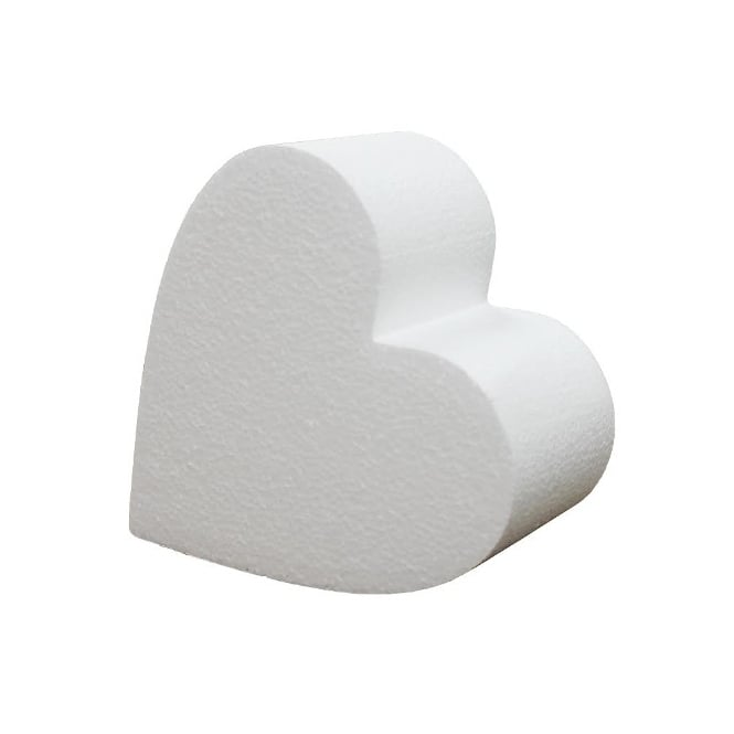 The Cake Decorating Co. 6 Inch Heart 4 Inch Deep Professional Cake Dummy