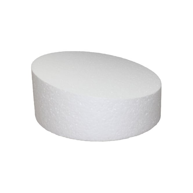 The Cake Decorating Co. 6 Inch Round 4 Inch Deep Wonky Professional Cake Dummy