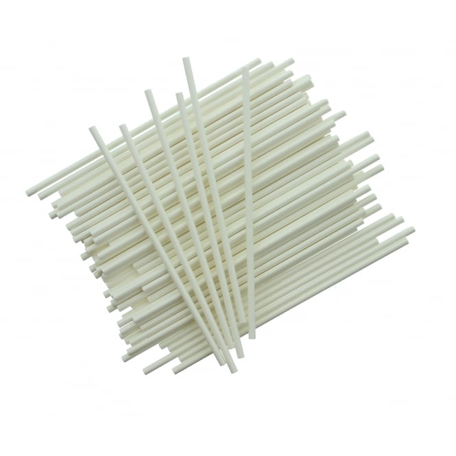 The Cake Decorating Co. 6 Inch White Cake Pop Sticks x 25