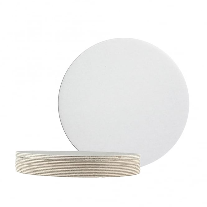 The Cake Decorating Co. 7 Inch White Round Poly Coated Cake Card