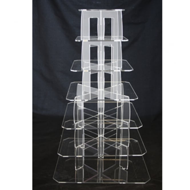 The Cake Decorating Co. 7 Tier Square Perspex Cupcake Stand 4mm