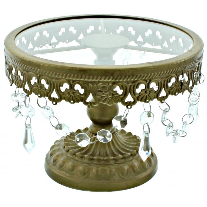 The Cake Decorating Co. 8 Inch Gold Shabby Chic Cake Stand