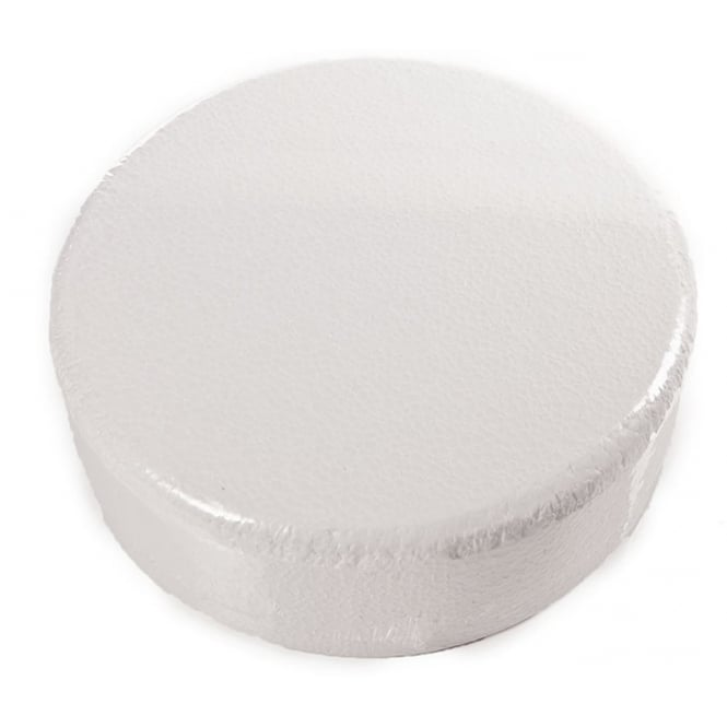 The Cake Decorating Co. 8 Inch Round 4 Inch Deep Professional Chamfered Edge Cake Dummy