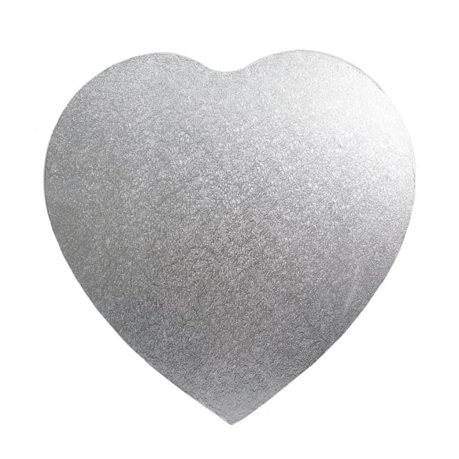 The Cake Decorating Co. 8 Inch Silver Heart Drum Cake Board