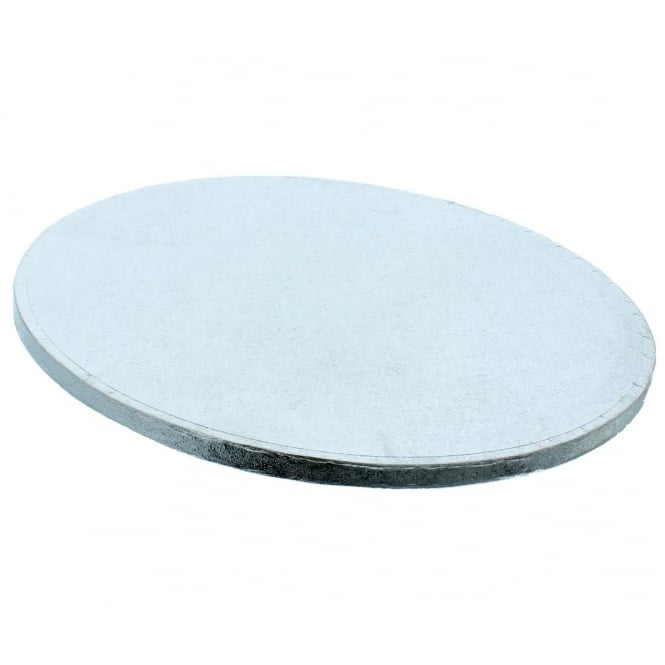 The Cake Decorating Co. 8 Inch Silver Round Drum Cake Board