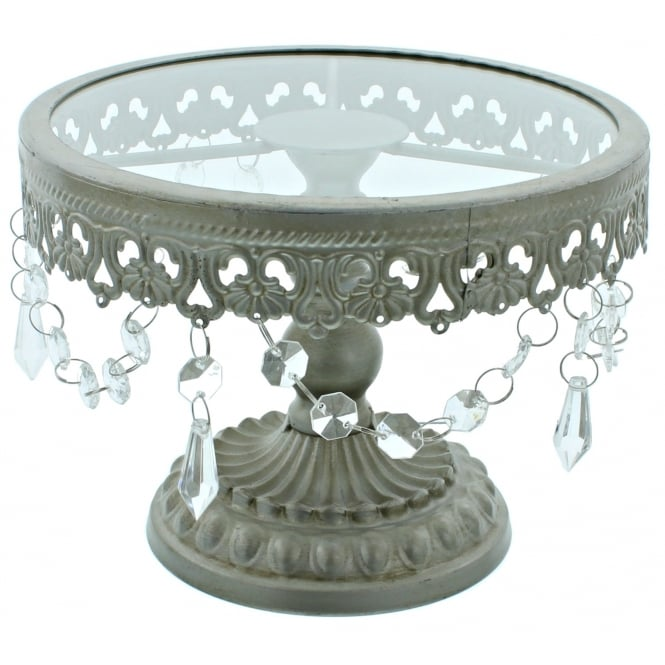 The Cake Decorating Co. 8 Inch Silver Shabby Chic Cake Stand