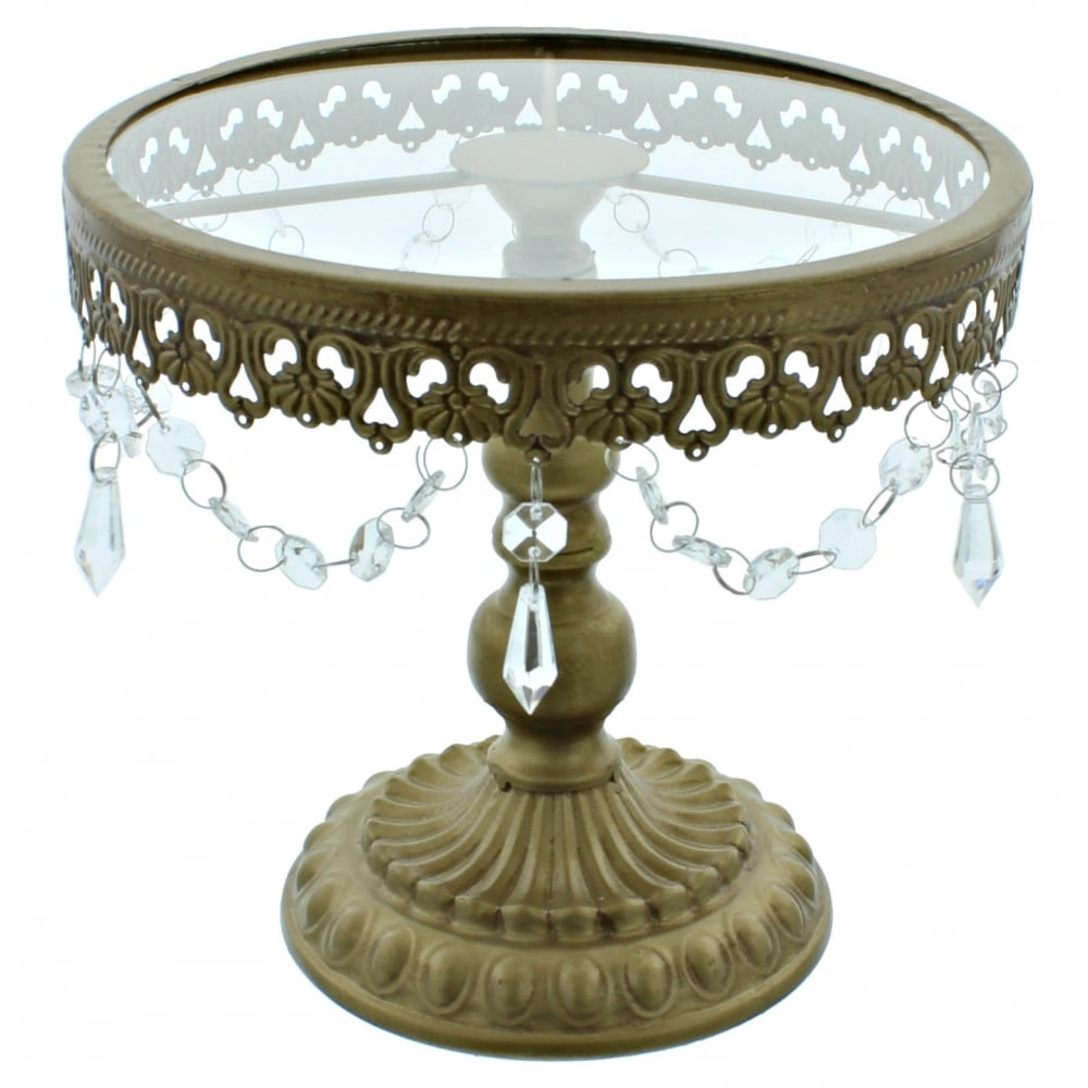 9 5 Inch Gold Shabby Chic Cake Stand Vintage Style Cake