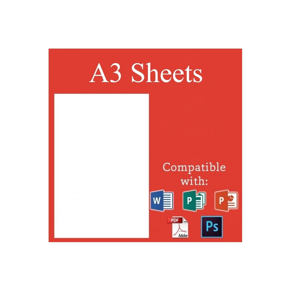 A3 Edible Icing Sheets Pack of 30 | Edible Sheets | Cake Decorating