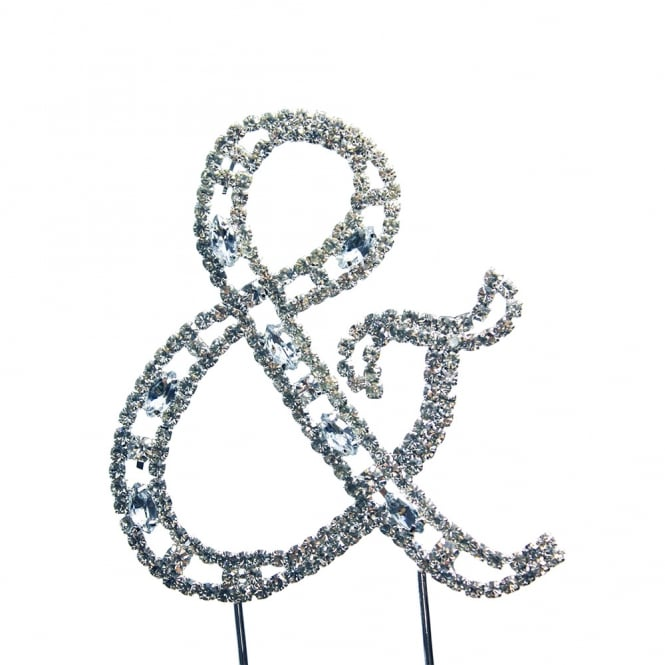 The Cake Decorating Co. Ampersand Symbol Diamante Embellishment Cake Decoration