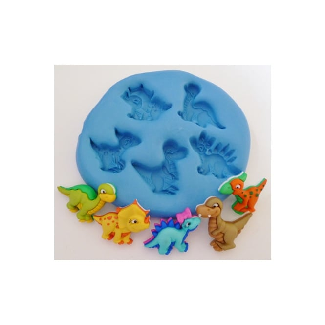 The Cake Decorating Co. Baby Dinosaurs Silicone Mould