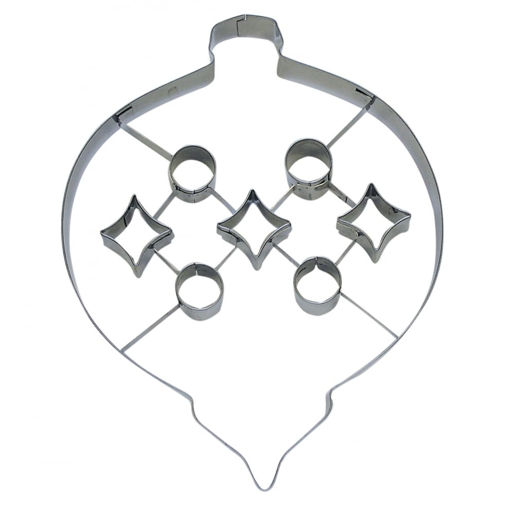 Cookie Cutter Christmas.Bauble With Punch Out Cookie Cutter