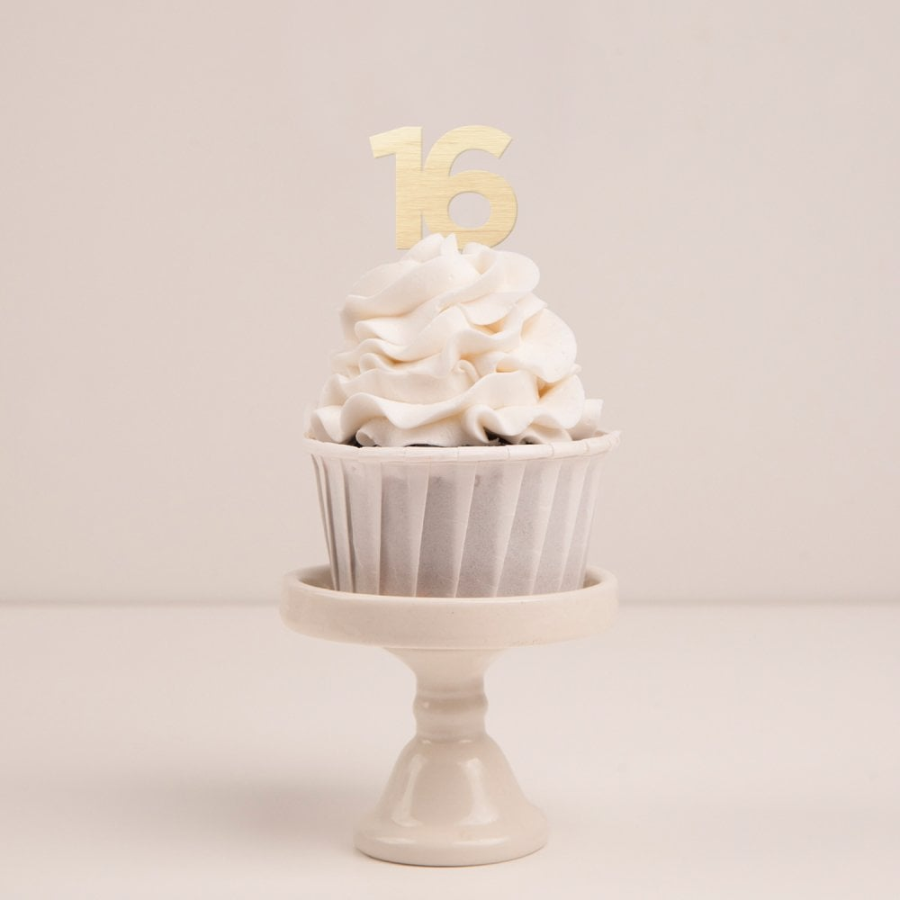 Pleasing Birthday Numbers Wooden Cupcake Toppers Funny Birthday Cards Online Inifofree Goldxyz