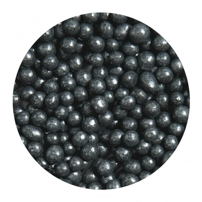 The Cake Decorating Co. Black - 6mm Edible Pearls - 500g