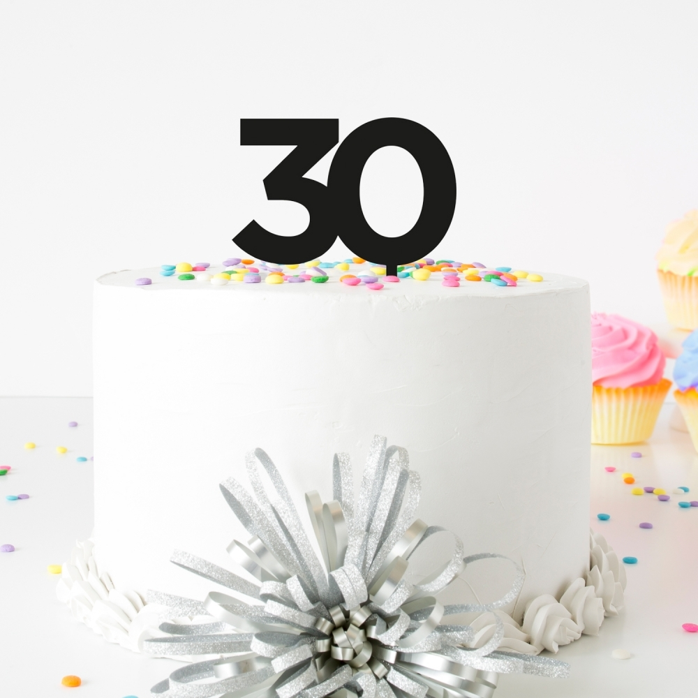 Remarkable Black Birthday Number Acrylic Cake Topper Funny Birthday Cards Online Fluifree Goldxyz
