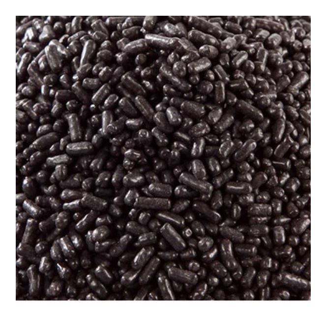 The Cake Decorating Co. Black Jimmies Strands - 100G