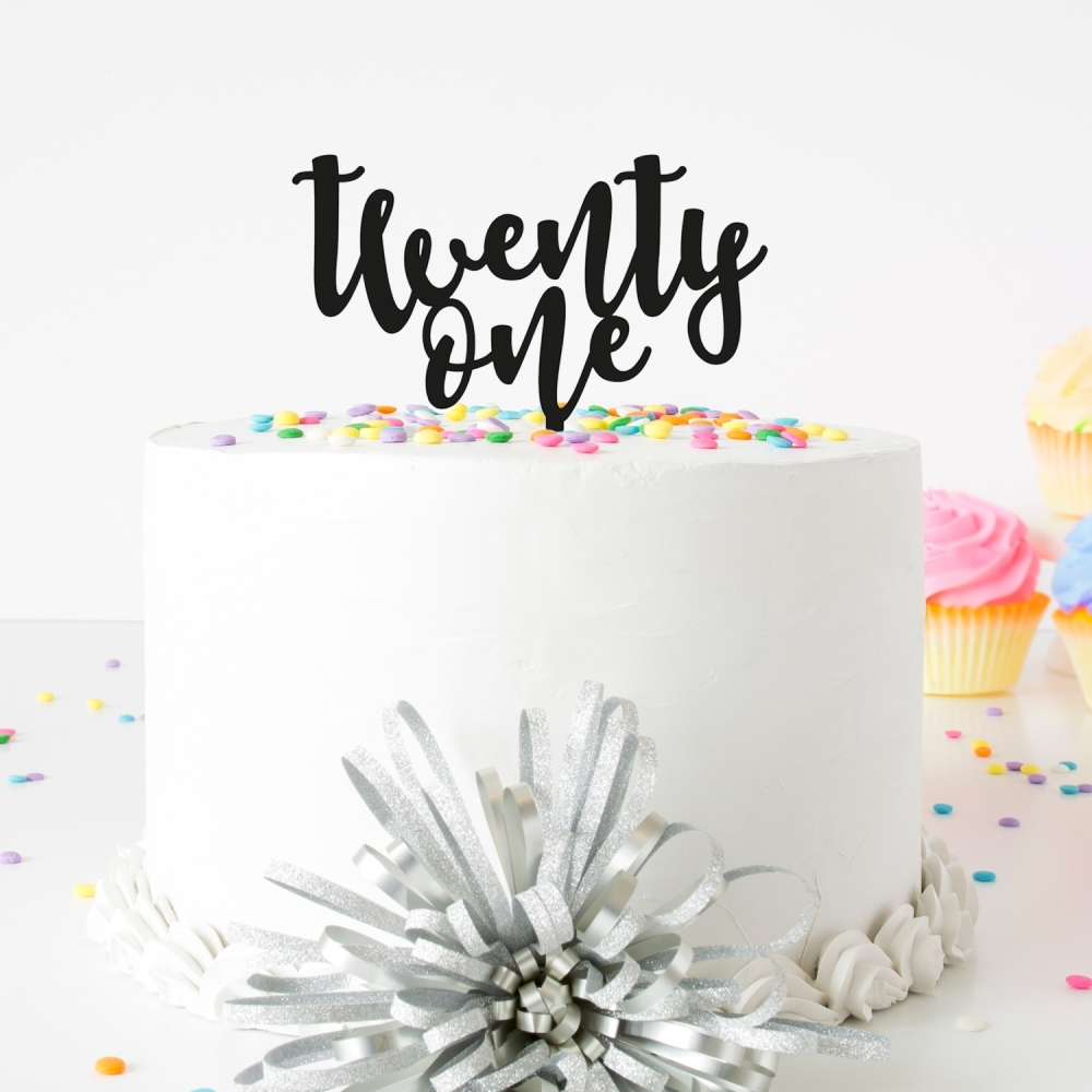 18th Birthday Cake Topper Acrylic Party Decorations Script Eighteen Pink Glitter
