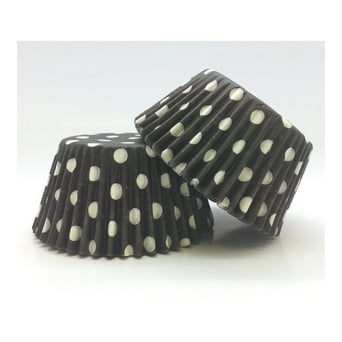 Black With White Spot Muffin Baking Cups x 500