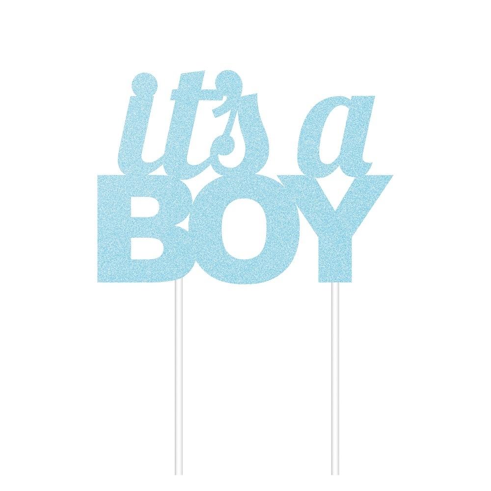 Blue Glitter 'It's a Boy' Cake Topper | Baby Shower Cake ...