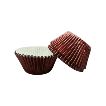 Brown - Foil 50mm Baking Cases x 500 Cups
