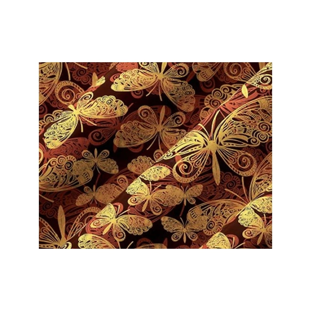 Butterfly Gold Chocolate Transfer Sheet X 1