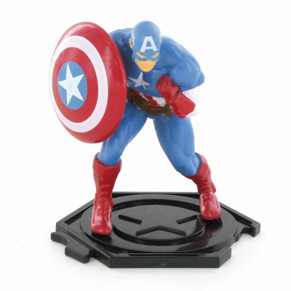 Wondrous Posed Captain America Figure Cake Topper Marvel Avengers Funny Birthday Cards Online Alyptdamsfinfo