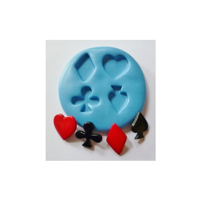 The Cake Decorating Co. Card Suits Silicone Mould