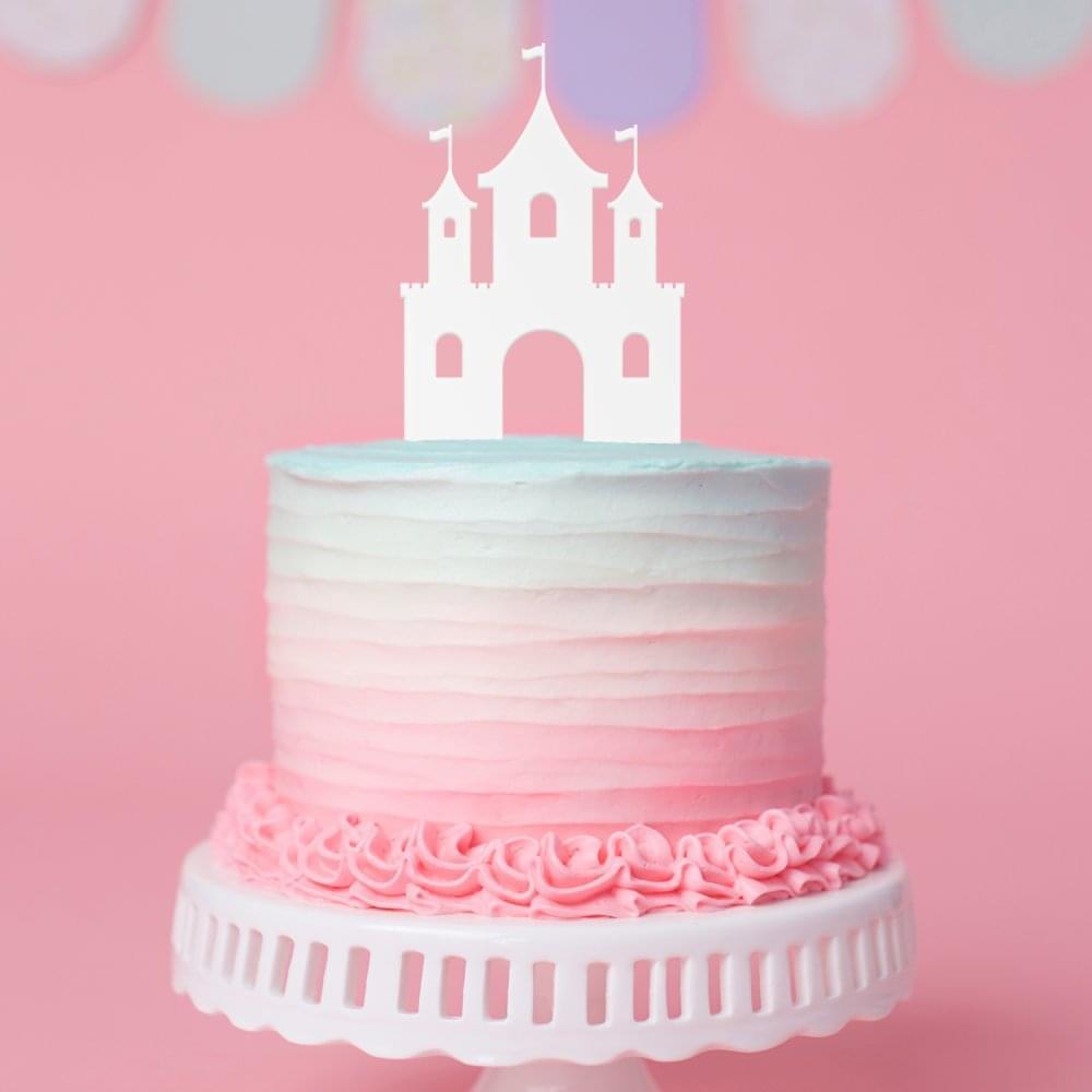 Terrific Castle Cake Topper Disney Castle Decoration Funny Birthday Cards Online Barepcheapnameinfo