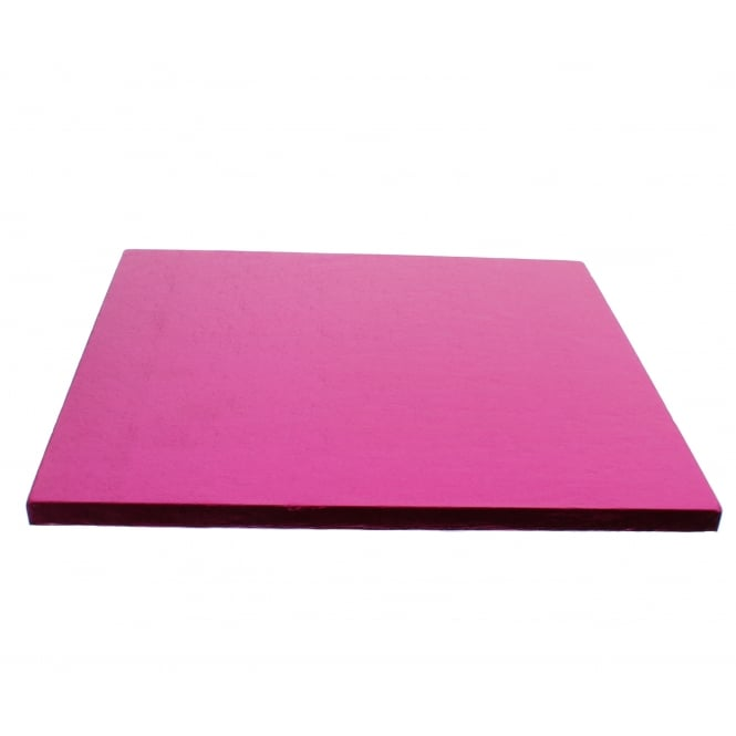 The Cake Decorating Co. Cerise Pink Square Drum Cake Board - Choose Your Size