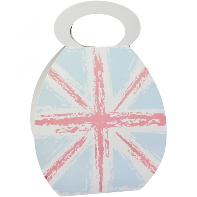 The Cake Decorating Co. Cupcake Handbag Box Holds 1 - Union Jack Print x 10