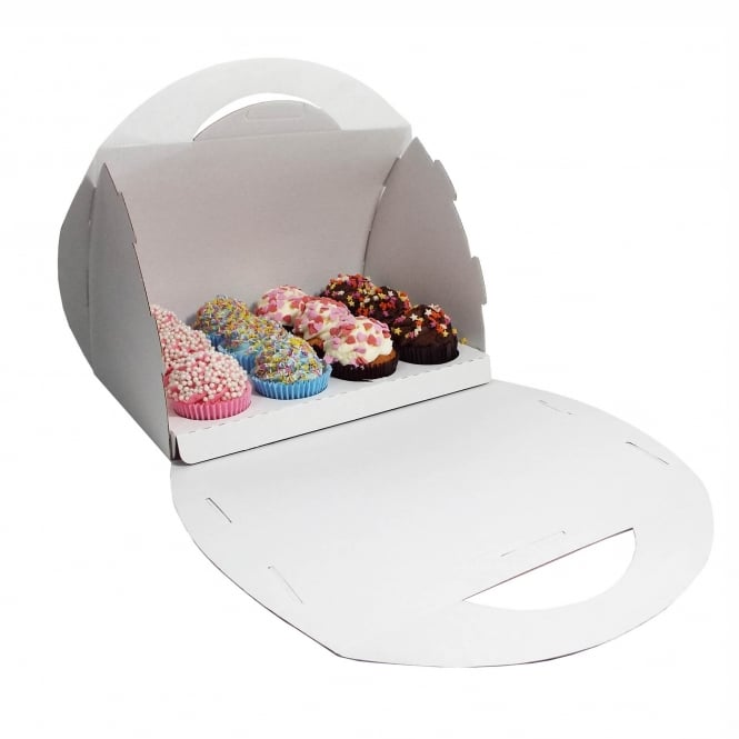 The Cake Decorating Co. Cupcake Handbag Box Holds 12 - White x 2