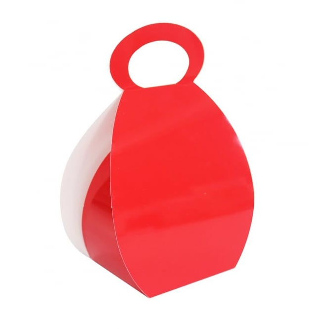 The Cake Decorating Co. Cupcake Handbag Box Holds 2 - Red x 10