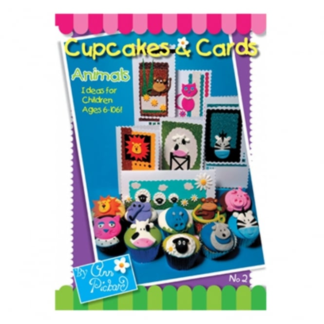 The Cake Decorating Co. Cupcakes And Cards No2 Animals Book By Ann Pickard - Signed Copy