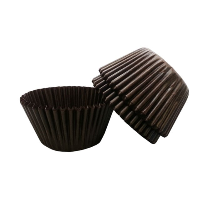 The Cake Decorating Co. Dark Brown Baking Cases x 500 Cups