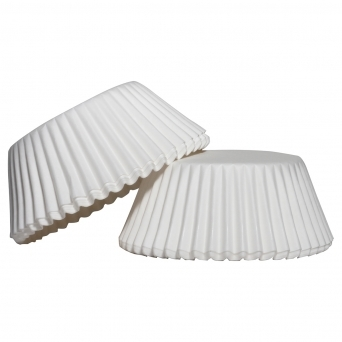 Fluted White Baking Cups 500 Pieces