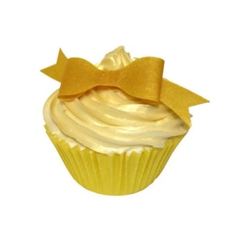 Gold Bow Edible Toppers Pack Of 12