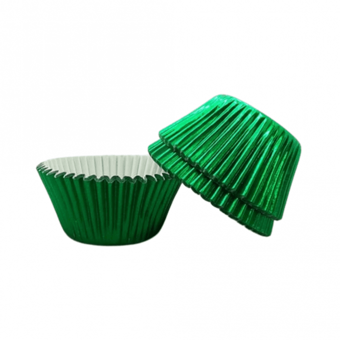 The Cake Decorating Co. Green - Foil 50mm Baking Cases x 500 Cups