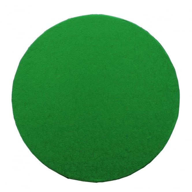 The Cake Decorating Co. Green Round Drum Cake Board - Choose Your Size
