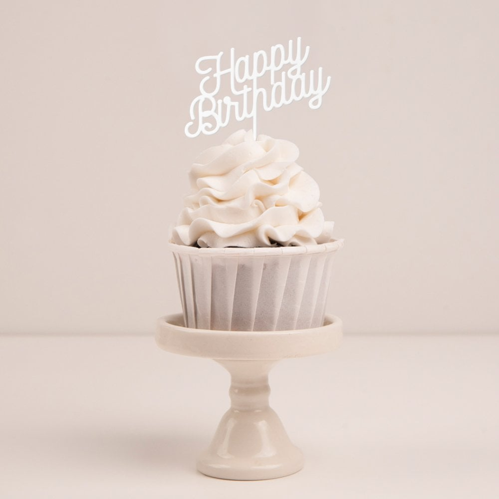 'Happy Birthday' Cupcake Topper