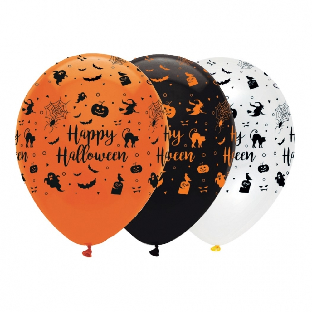 Happy Halloween Balloons Mix