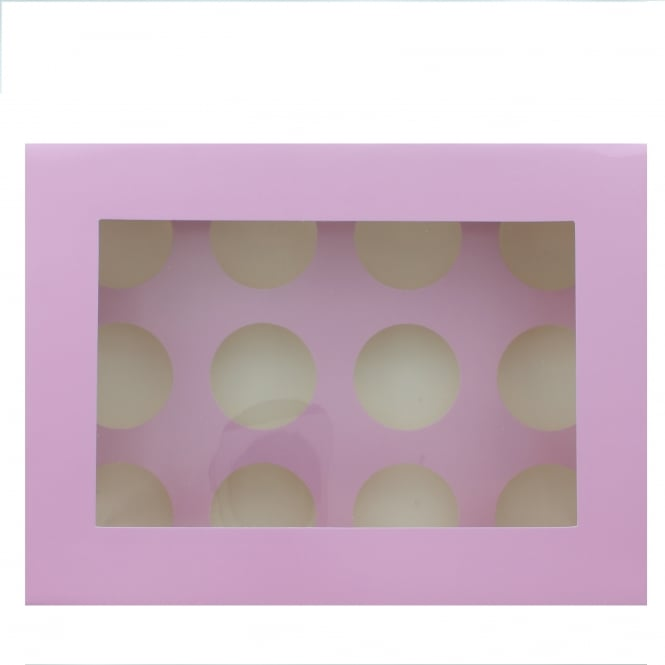The Cake Decorating Co. Holds 12 Luxury Satin Cupcake Box - Lilac