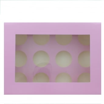 Holds 12 Luxury Satin Cupcake Box - Lilac