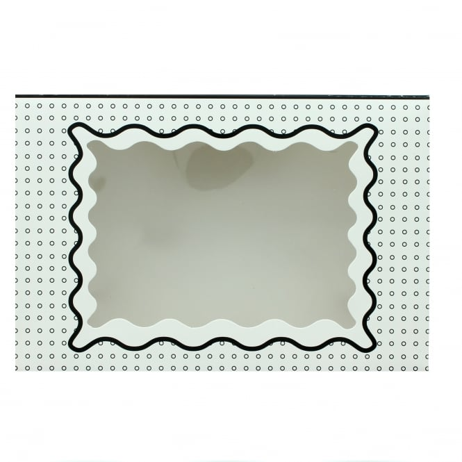 The Cake Decorating Co. Holds 12 Luxury Satin Cupcake Box - White With Black Circles