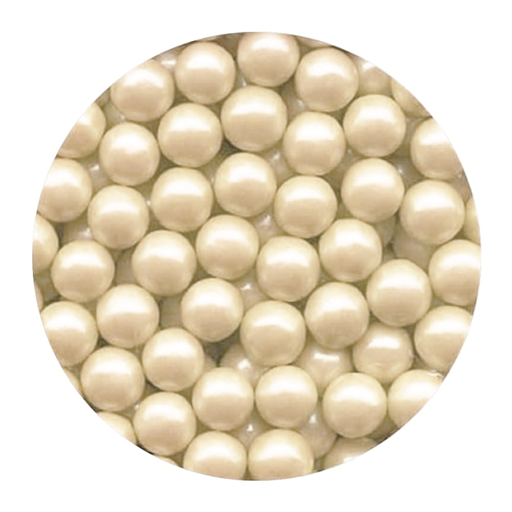 The Cake Decorating Company Ivory Pearl - 10mm Edible Pearls - 100g ...