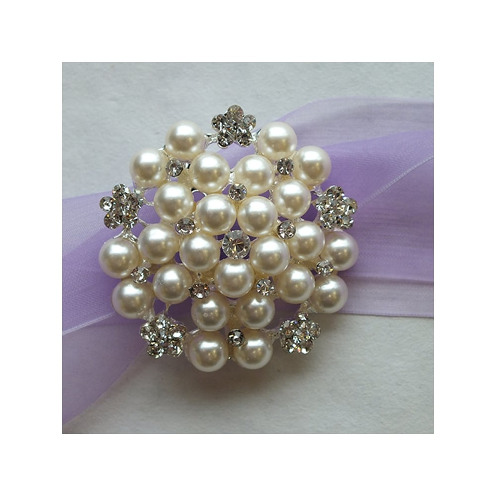 Pearl Crystal Diamante Buckle Decoration | Non Edible Cake ...